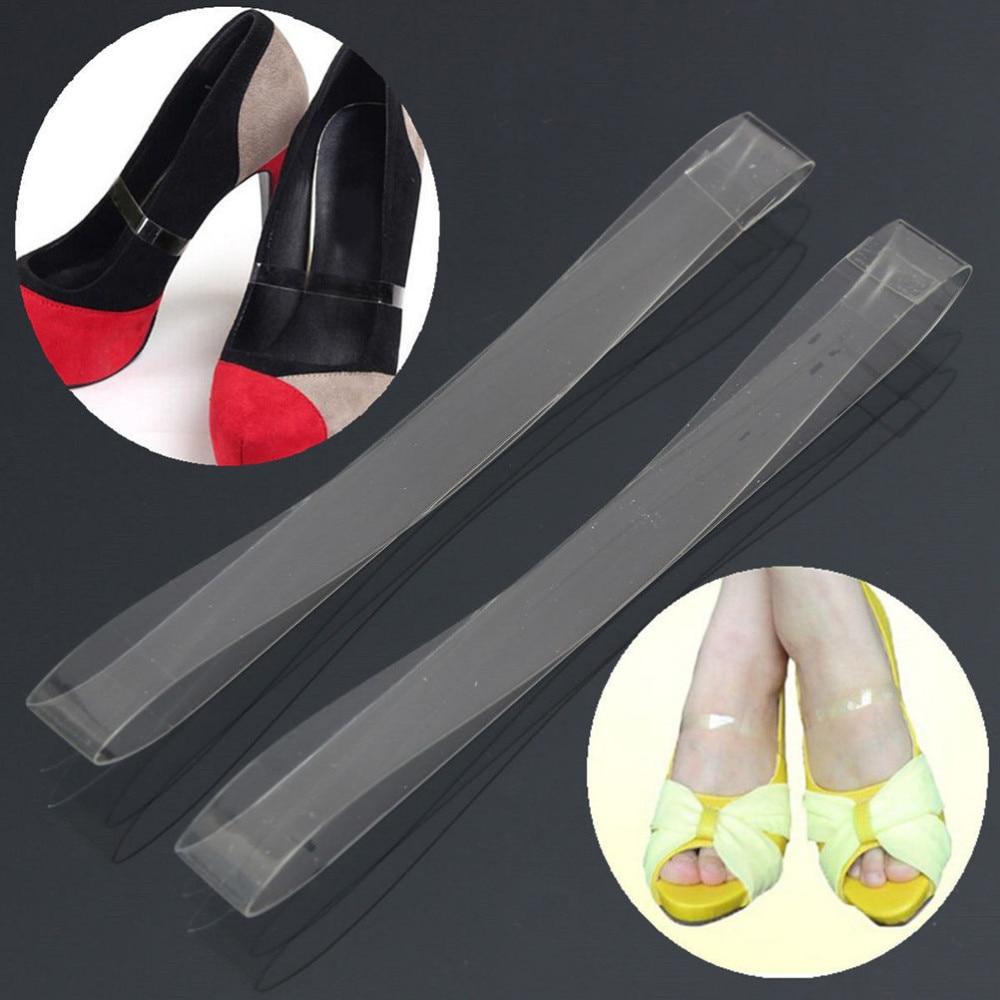 Cordón Pares Alto Beam Correa Transparente Anti Para Tacón Zapatos De La 100 Zapato Invisible Silicona Danza Running vFdWwq