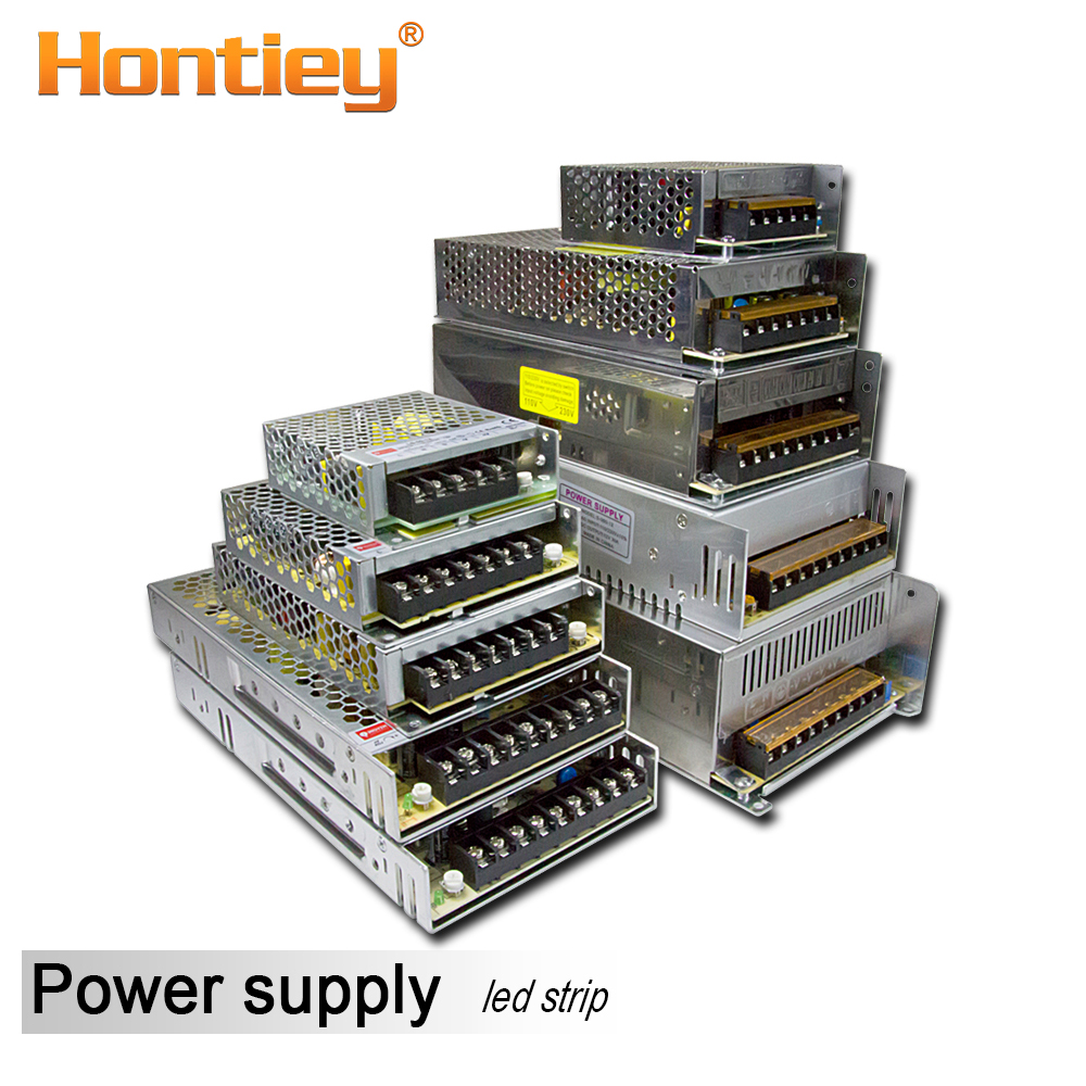 Hontiey Lighting Transformers AC 12V LED Strip Driver DC 110V 220V Bekalan Kuasa 50W-720W 5A 10A 20A 30A 40A 60A