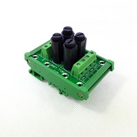 Fuse Module,DIN Rail Mount 4 Channel Fuse Power Distribution Module Board.