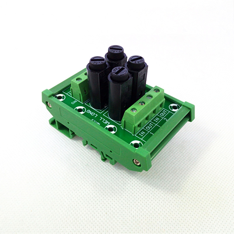 Fuse Module,DIN Rail Mount 4 Channel Fuse Power Distribution Module Board. poe21 120f power supplies board mount mr li