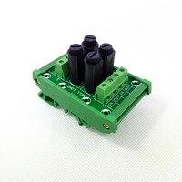 Módulo de fusible, Montaje en carril DIN 4 fusible canal Módulo de distribución de energía junta.