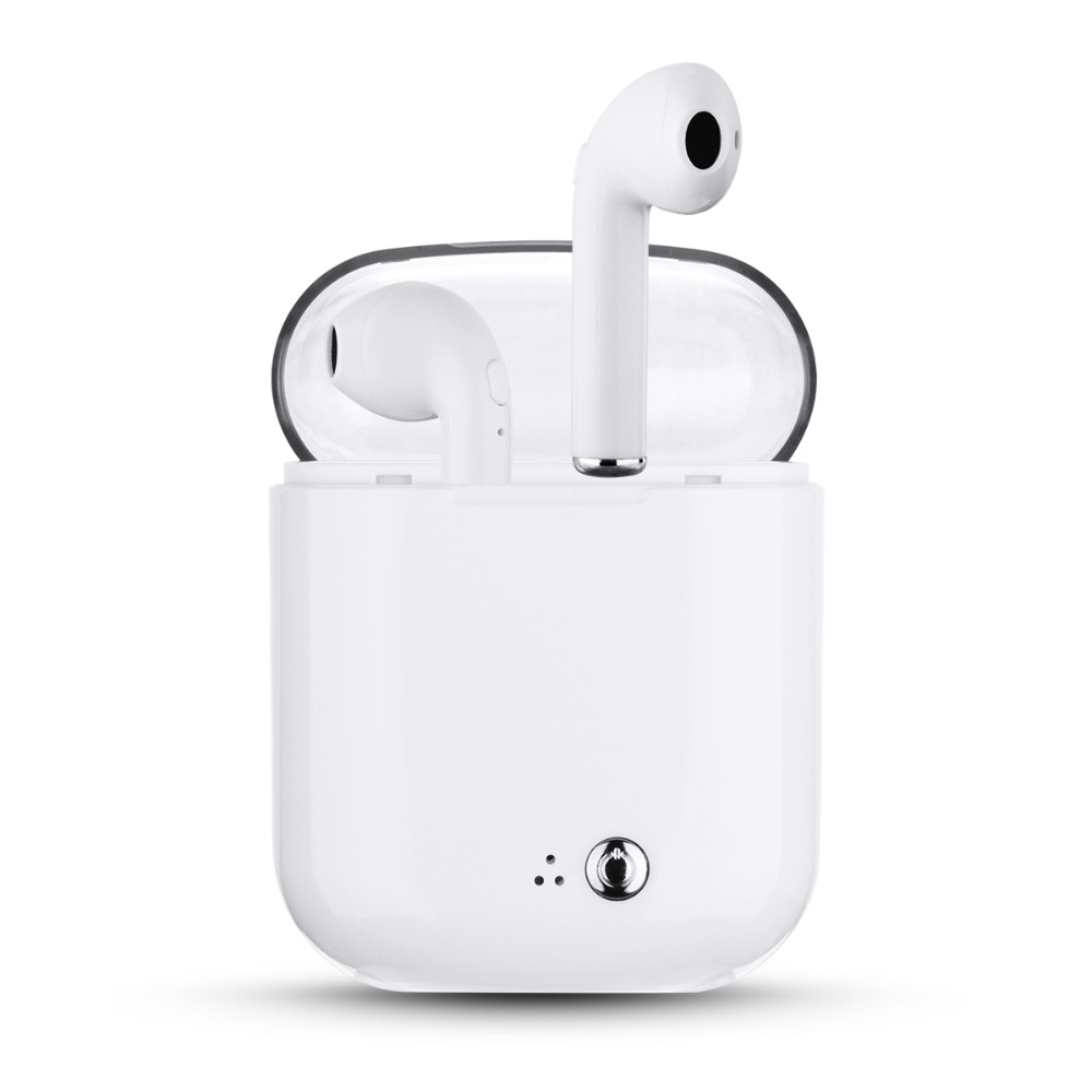 US $12 57 28% OFF I7S TWS Wireless Earbuds Bluetooth Headphones Portable In  Ear Earphone for Apple iPad Android Wireless Earphone and Charge Case -in
