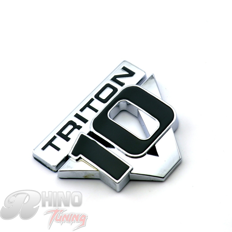 Rhino Tuning 1997-2004 TRITON V10 SUPER DUTY Car Emblem Sticker Chrome Car Rear Boot Trunk TRITON V10 Badge Sticker 642 triton эко 60 белая