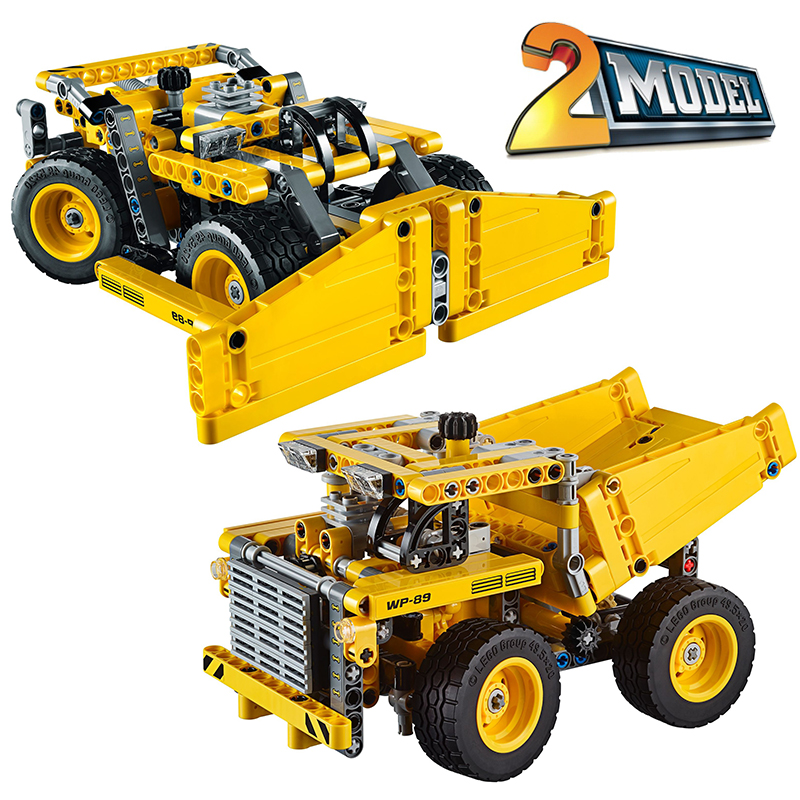 Decool 3363 Mining Truck building bricks blocks Toys for children boys Game Model Car Gift Compatible with Lepin Bela 42035 lepin 02005 volcano exploration base building bricks toys for children game model car gift compatible with decool 60124