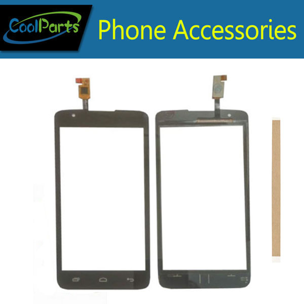 1PC/Lot High Quality For Micromax Q383 Touch Screen Digitizer Touch Panel Lens Glass Replacement Part Black Color With Tape