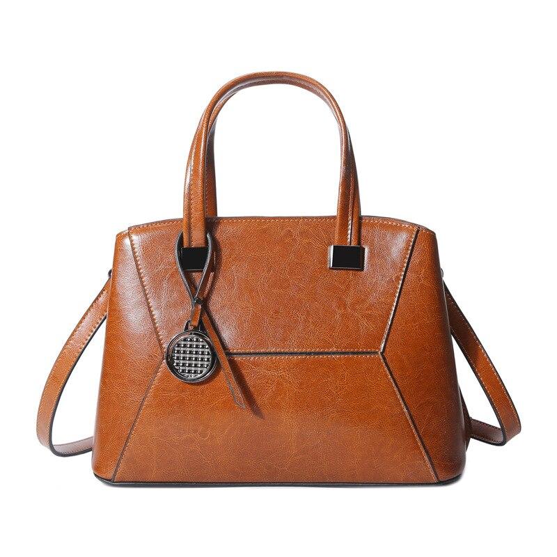 Mode femmes sac en cuir de vache véritable sacs à main pour le travail sacs à bandoulière femme Designer haute qualité fourre-tout dames sac à main 2019 nouveau