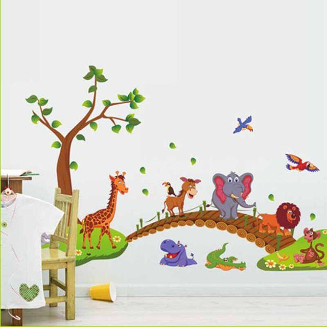 Tienda Online Dibujos Animados selva salvaje árbol puente León ...