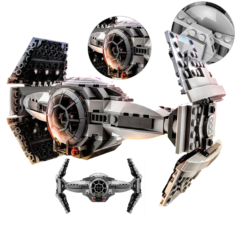 354pcs star Wars series The Force Awakens TIE Advanced Prototype DIY Bricks fighter Building Blocks Toys Compatible With Legoe