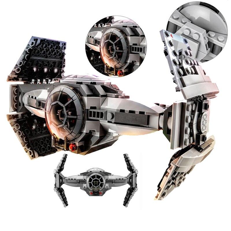 ZW 354pcs <font><b>star</b></font> <font><b>Wars</b></font> series <font><b>The</b></font> <font><b>Force</b></font> <font><b>Awakens</b></font> TIE Advanced Prototype minifigure fighter Building Blocks Toy Compatible With Legoe