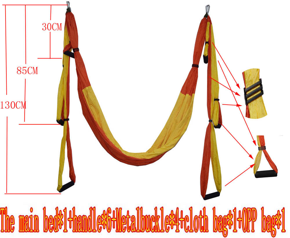 Air Flying Yoga Hammock Aerial Yoga Hammock Belt Fitness Swing Hammock With 440Lb Load