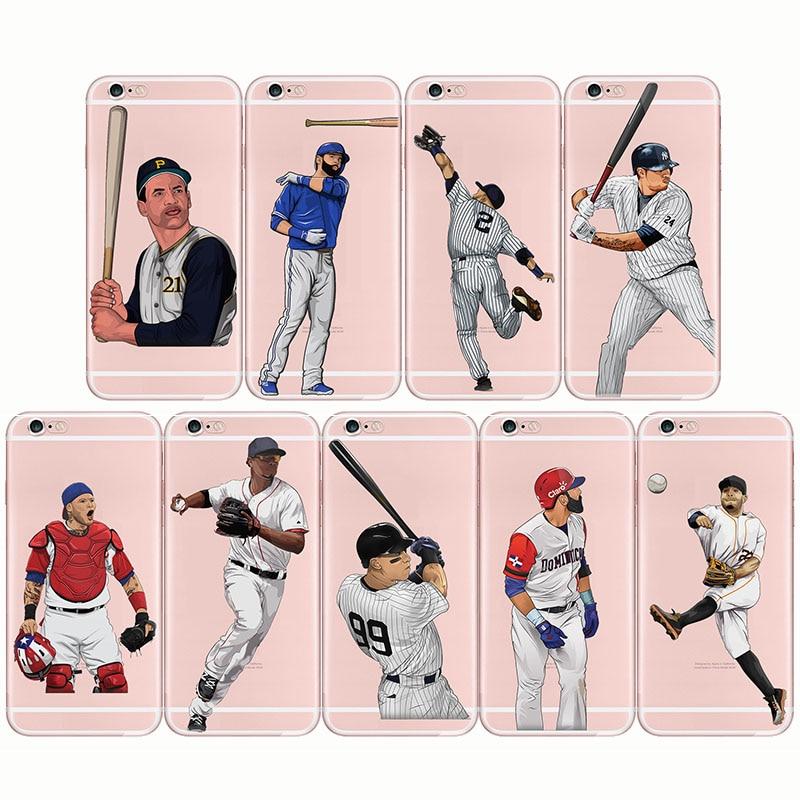 baseball cartoon Bryce Harper soft silicone phone cases cover Capinha Coque fundas capa for iPhone
