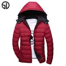 Мужская Мода Случайные куртка Пальто Съемный Капюшон Твердые Молния Бесплатная Доставка Зимняя Куртка Высокого Качества Горячей Продажи