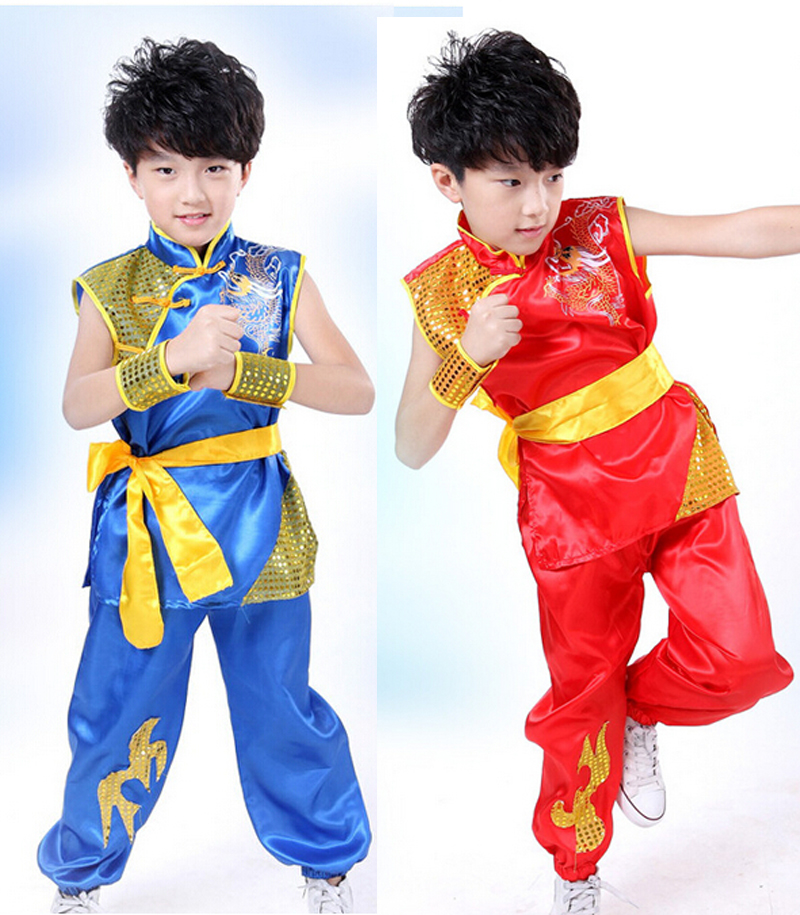 Children sleeveless Taekwondo Dobok Wushu Costume Kimono Judo clothing Chinese Kung Fu Suit Tai Chi Clothing Martial Art Uniform