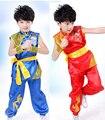 Children sleeveless Taekwondo Dobok Wushu Costume Kimono Judo clothing Chinese Kung Fu Suit Tai Chi Clothing Martial Art Uniform