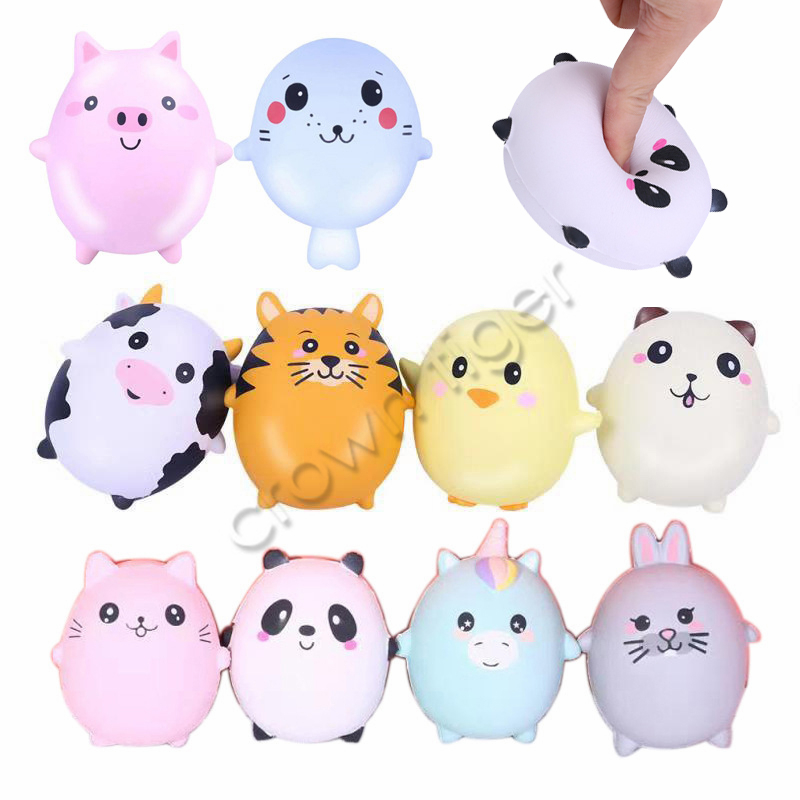 Cute Kawaii Squishy Squeeze Toy Soft Cartoon Animals Squishy Slow Rising Squeeze Anti Stress Relief Toys For Children Autism