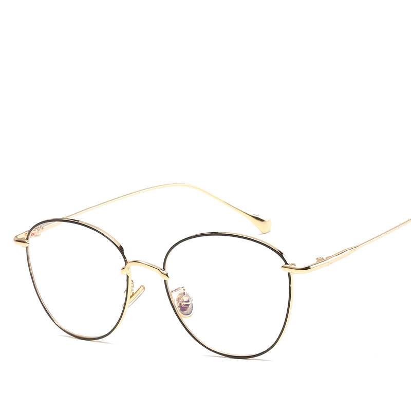 Fashion Gold Metal Frame Eyeglasses For Women Female Vintage Glasses ...