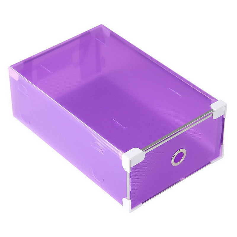 1pcs Men Multi-function Clear Foldable Strong Plastic Shoes box Storage Box Organizer