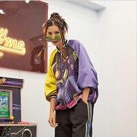 2019 New Hip Hop Womens Jacket Coat Bat Sleeved Printed Funny Fantasy Harajuku BF Jacket Outerwear Coats Streetwear