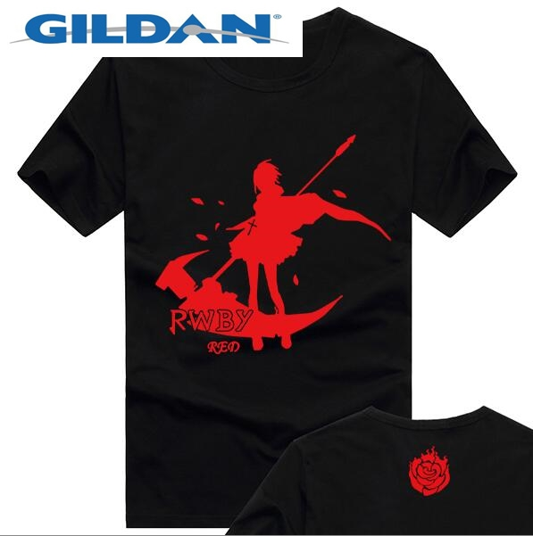 Anime RWBY t-shirt logo Short Sleeve Men Top free shipping