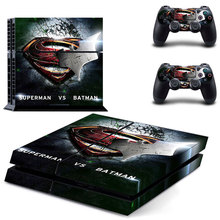 DC Superman PS4 Skin Sticker Decal Vinyl for Sony Playstation 4 Console and 2 Controllers PS4 Skin Sticker