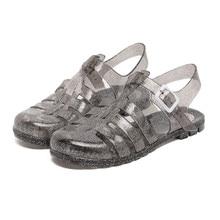 Musim panas Musim Gugur Baru Sepatu Kasual Wanita Sandal Jelly Sepatu Feminino Sandal Pantai Slides Mules Laut Ringan Menyumbat Flat Platform