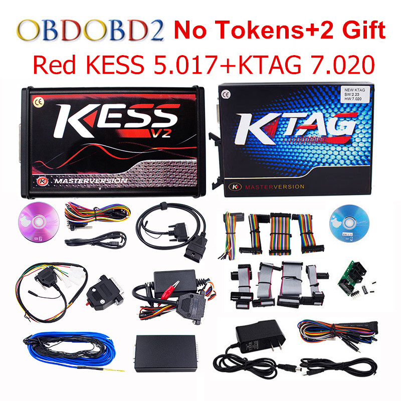 Online Master KESS V5.017 V2.23 + KTAG V7.020 V2.23 No Tokens Limit KESS 5.017 + K-TAG K Tag 7.020 ECU Programmer DHL Free new version v2 13 ktag k tag firmware v6 070 ecu programming tool with unlimited token scanner for car diagnosis