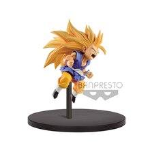 Tronzo Original Banpresto Action Figure Dragon Ball Super Fes 10 Goku SSJ3 Child Goku PVC Figure Model Toys GT Figurals Jouets