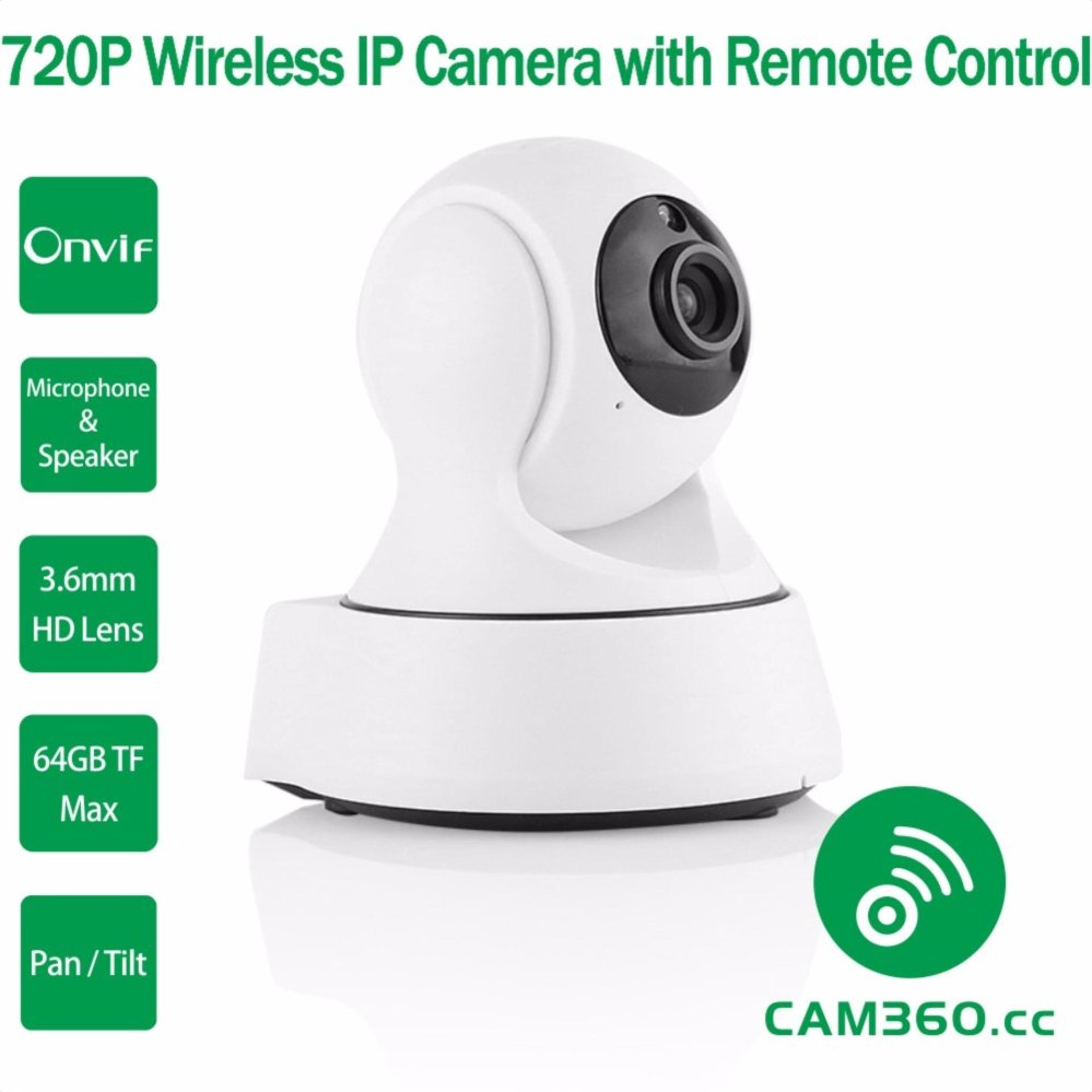 720P Mega Pixel Pan and Tilt Onvif WiFi Baby Monitor IP Camera with Audio In Out and Remote Smartphone App Access continent cc 017 сумка для ноутбука 17