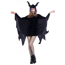 2018 Mew Halloween Bat Costume Sleeping Magic Charm Horn Corner Demon Stage Costume  280 купить недорого в Москве