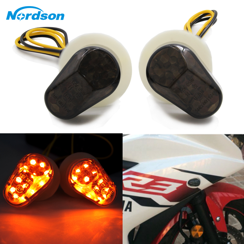 Nordson Motorcycle LED Bulb Turn Signals Indicator Flashing Photoflash Lights For Yamaha YZF R1 R6 R6S R3 R6S FZ1 FZ6 FZ8 FAZER