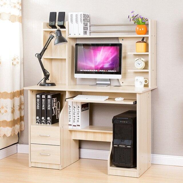 man patriarch van desktop computer bureau boekenkast eenvoudige combinatie van lage boekenkast bureau boeken op de
