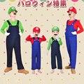 OHCOS Funy Cosplay Traje de Alta Qualidade Super Mario Luigi Irmãos Fancy Dress Up Costume Party Bonito Traje Adulto Frete Grátis