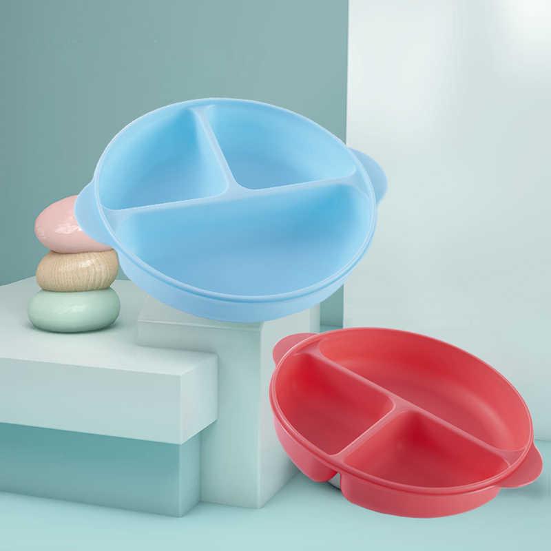 Детские милые разделенные тарелочки для детей унисекс посуда легко моется в посудомоечной машине и микроволновой печи безопасно подходит для маленьких детей K12