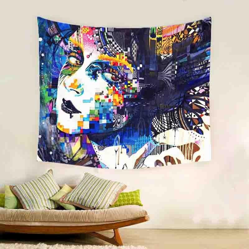 New Indian mandala Tapestry wall hanging exotic wind skull Nightmare before Christmas printing home Wall beach <font><b>towel</b></font> blanket