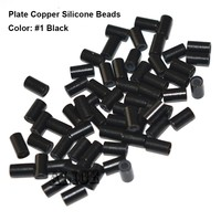 Flat Edge Silicone Copper Micro Rings 3.4*2.0*6.0mm Medium Blonde 1000pcs/Lot Dreadlock Ring Hair Extension Beads