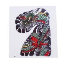 Cyan Dragon Domineering водонепроницаемый стикер татуировки анти-пот Прочный Прохладный тату Цветок на руку тату стикер