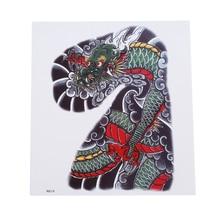 Cyan Dragon Domineering Waterproof Tattoo Sticker Anti-sweat Durable Cool Hot Selling Flower Arm