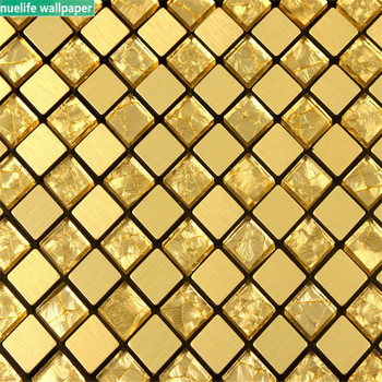 Glass mosaic tile self-adhesive wall stickers TV background wall stickers living room shop Shoe cabinet bathroom 3D wall sticker