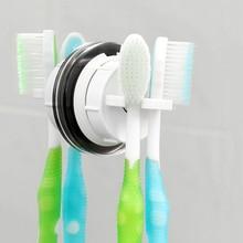 цена на Toothbrush Holder Suction Cup Wall Toothbrush Holder Wall Mounted Toothbrush Holder for Bathroom Organizer 2 Pack
