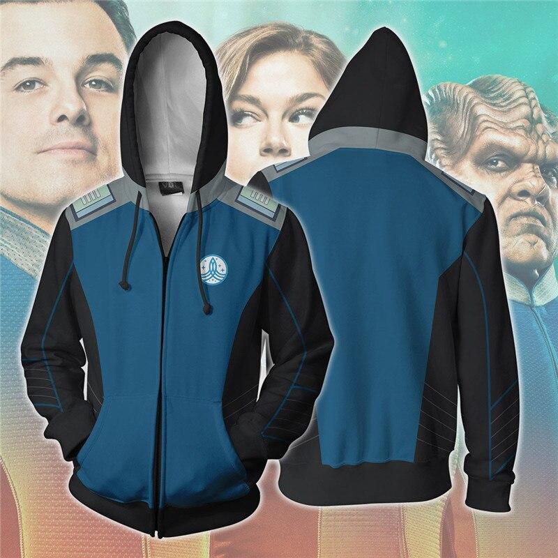 The Orville Cosplay Costume Men's Sweatshirt Hooded Uniform 3D Printed Hoodies hoodie jacket