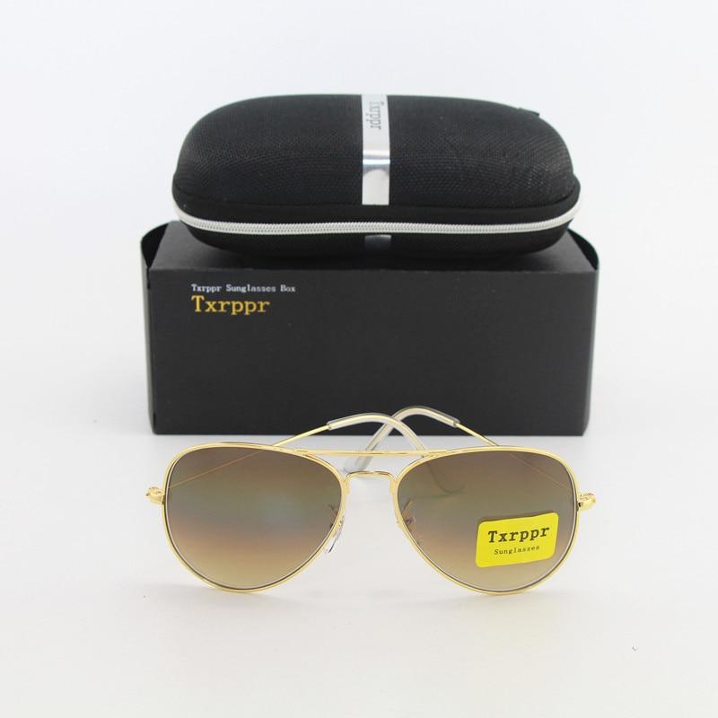 """""""Txrppr"""" aukščiausios kokybės mados prekės ženklo akiniai nuo saulės, dizaineriai, saulės akiniai vyrams, moterims, gradiento auksinis rėmas, rudas stiklas"""