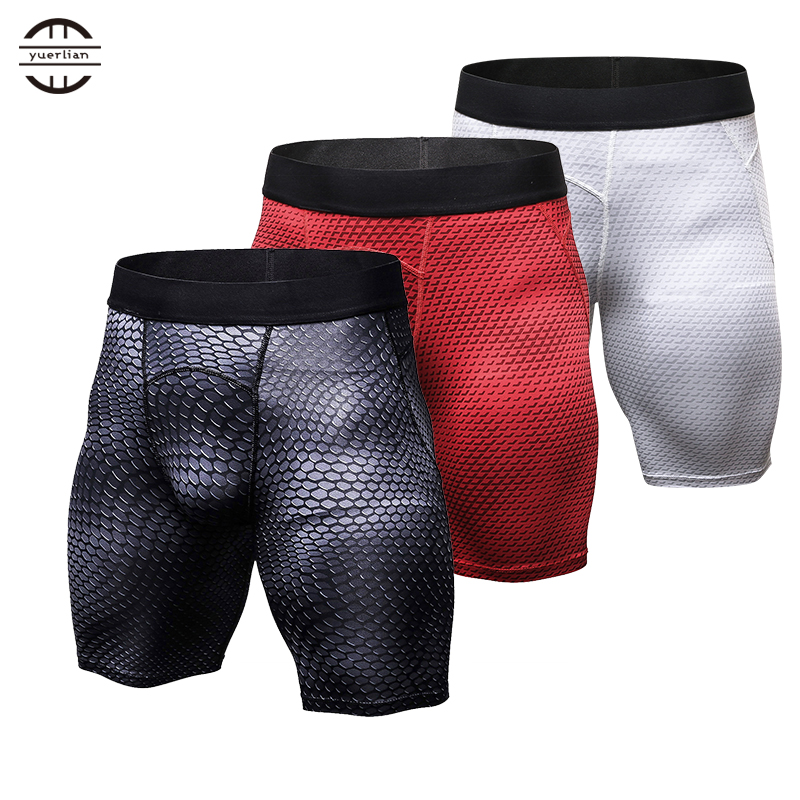 Yuerlian Powerfull Quickly Dry Gym Sport Legging Crossfit Men's Shorts Football Trousers Jogging Compression Tight Running Short