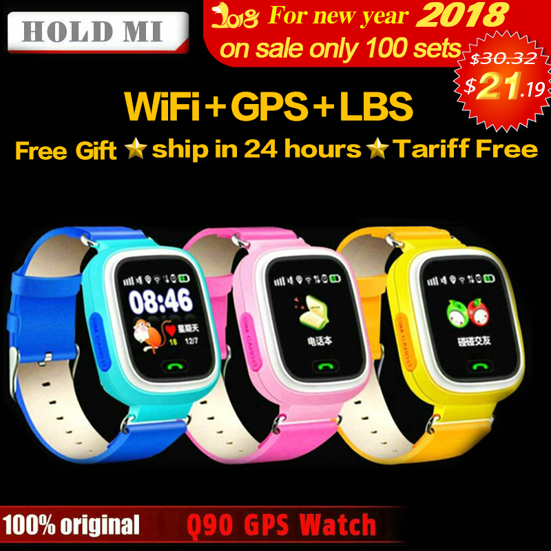 Halten Mi Q90 GPS Telefon Positionierung Mode Kinder Uhr 1,22 zoll farbe Touchscreen WIFI SOS Smart Uhr Baby Q80 Q50 Q60 finden