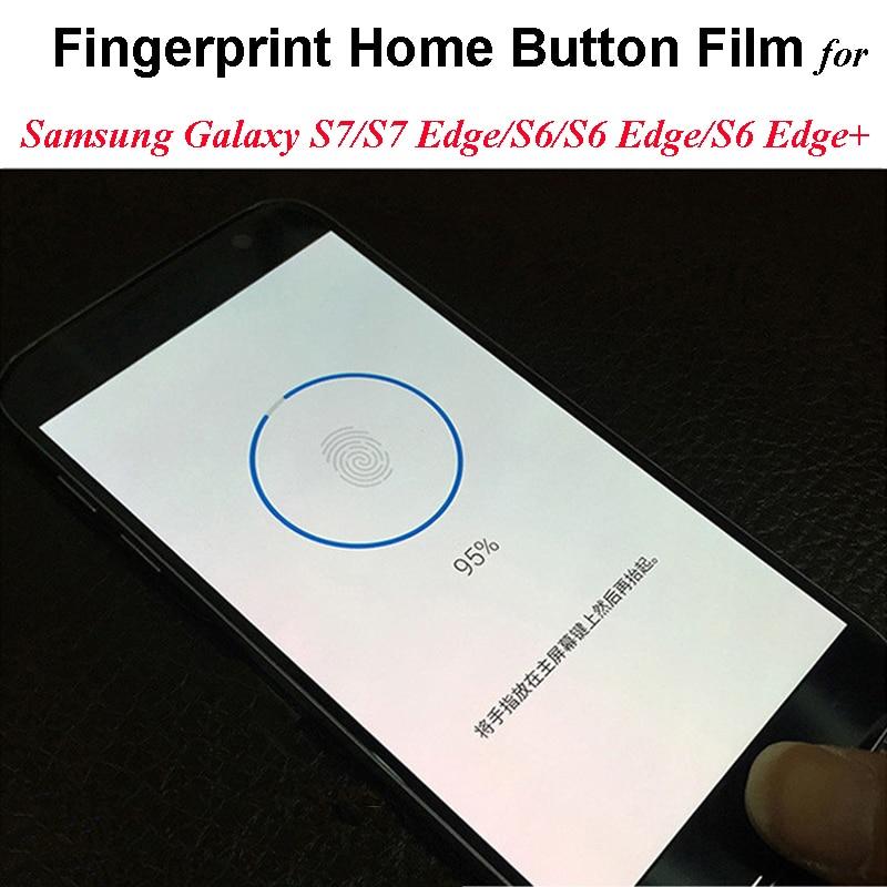 Διαφανές φιλμ προσθήκης δακτυλικών αποτυπωμάτων για Samsung Galaxy S7 / S7Edge / S6 / S6 Edge + αυτοκόλλητο κουμπιού οικιακού κουμπιού