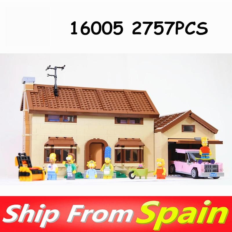 16005 16004 Movie Series Kwik E Mart house Model Building Blocks Bricks Compatible with 71006 71016