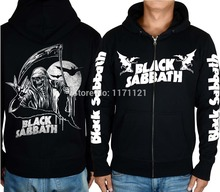 BLACK SABBATH LINE UP MUSIC HOODIE Band World Tour heavy metal CLASSIC METAL black 100% cotton hoodie