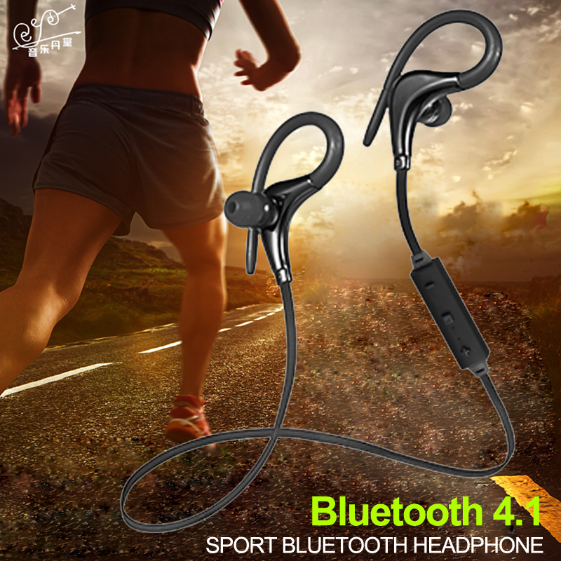 BT Wireless Bluetooth 4.1 Earphone Portable Handsfree Headphone with Mic Music Headset Universal For Xiaomi Samsung iPhone 7 8 bluedio t4 original wireless headphones portable bluetooth headset with microphone for iphone htc samsung xiaomi music earphone