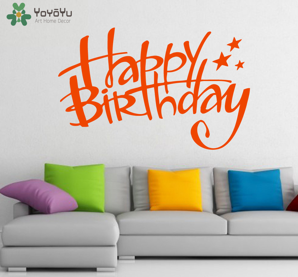 Happy Birthday Wall Decal Home Decoration Accessories For
