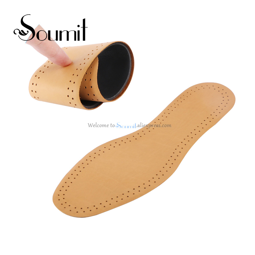 Soumit New Style Breathable Lightweight Leather Insole Genuine Soft Cowhide Sweat-absorbent Insoles for Men and Women Shoes Pads soumit new style breathable lightweight leather insole genuine soft cowhide sweat absorbent insoles for men and women shoes pads