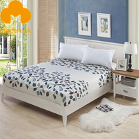 MECEROCK Polyester Fitted Sheet Bed Sheet With Elastic Band Mattress Cover Bed Linen 160*200cm Can Be Customized